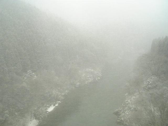 吹雪の保津峡