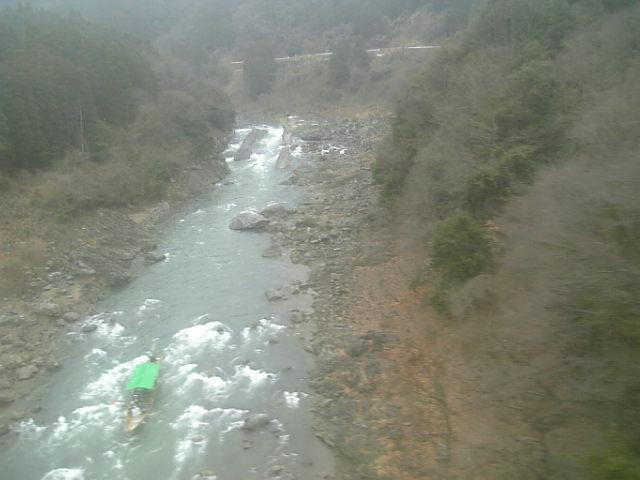 小雨の保津峡