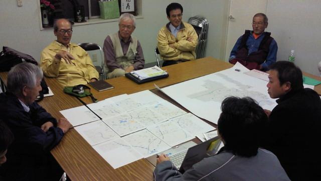 亀岡市篠町自治会でゴミマップの打ち合わせ