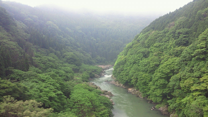 朝霧の保津峡