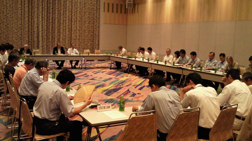 保津川花火大会の打ち合わせ会議に出席しました